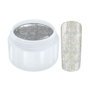 Galaxy hologram glitter gel zilver